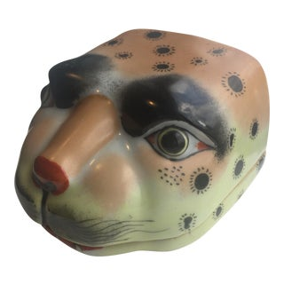 Late 20th Century Cat Face Trinket Box