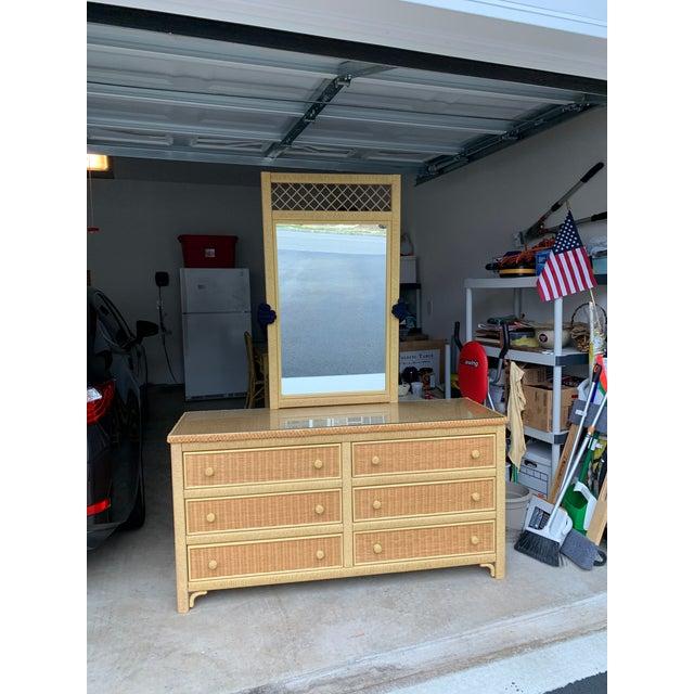 Henry Link Wicker Dresser Mirror Chairish