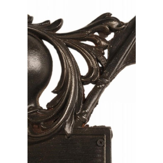 French Late 19th Century French Solid Cast Iron Plaque For Sale - Image 3 of 5