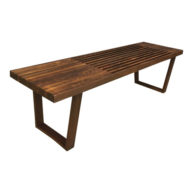 George Nelson Style Mid Century Bench/Coffee Table - Image 1 of 6