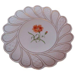 19th Century Antique Meissen Porcelain Plate