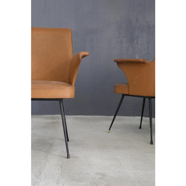 1950s Pair of Chairs by Nino Zoncada From 1950. For Sale - Image 5 of 7