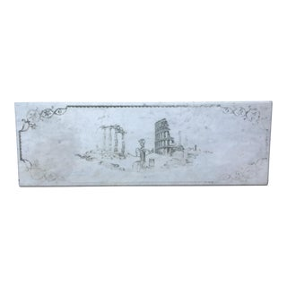 Etched Marble Roman Ruins For Sale