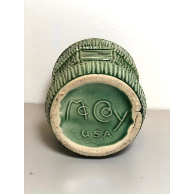 """Green McCoy Pottery Small """"Green"""" Mid-Century Flowerpot and Saucer For Sale - Image 8 of 10"""