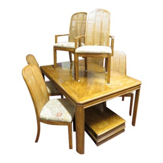 Vintage Mid Century Modern Drexel Dining Set - 7 Pieces For Sale