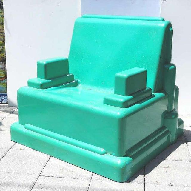 "Fiberglass Marco Zanini ""Roma"" Fiberglass Chair for Memphis For Sale - Image 7 of 7"