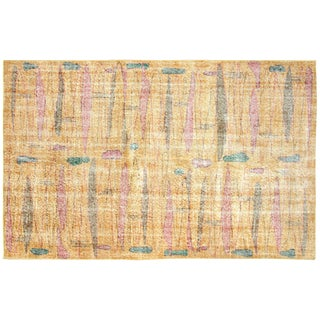 "1960s Turkish Art Deco Rug - 4'11"" X 8'1"" For Sale"