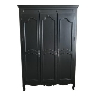 Young America Stanley Ma Marie Black Wooden Armoire For Sale
