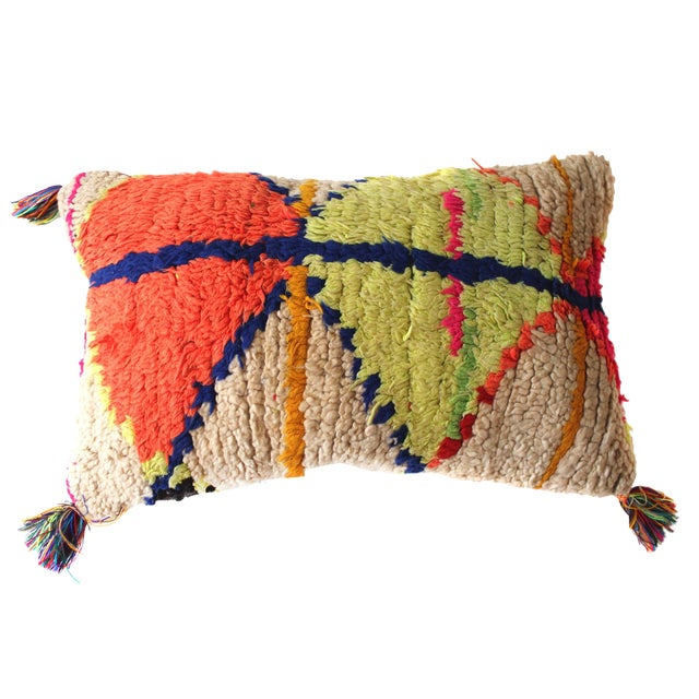 Moroccan Azilal Rug Pillow - Image 1 of 3