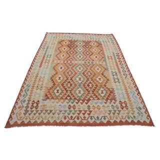 """Vintage Afghan Flatweave Kilim - 6'8"""" x 9'5"""""""