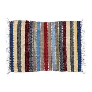 """Handwoven Reversible Vintage Swedish Rug by Scandinavian Made 36"""" x 26"""" For Sale"""