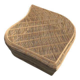Free Form Natural Rattan Bench / Coffee Table For Sale
