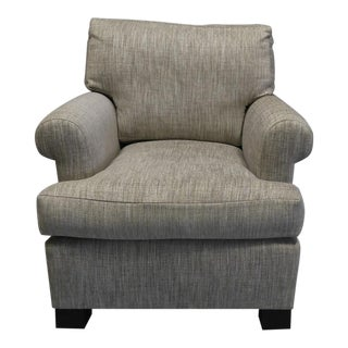Lounge Chair Upholstered in Colfax and Fowler Fabric For Sale