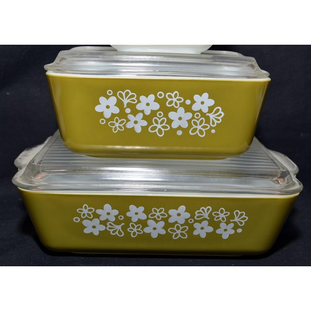 Complete set of Pyrex Spring Blossom Refrigerator dishes with lids. One of the nicest sets I've seen