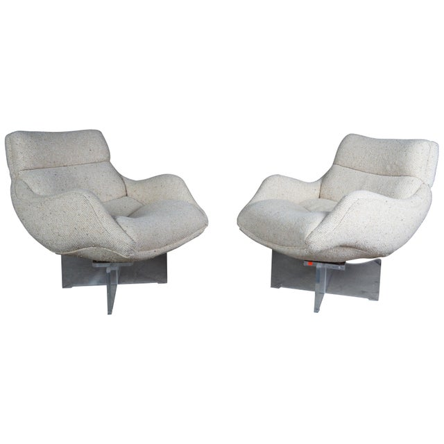 1960s Vladimir Kagan Cosmos Lounge Chairs- A Pair For Sale - Image 13 of 13