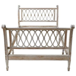 Neoclassical Hollywood Regency French Bed Frame For Sale