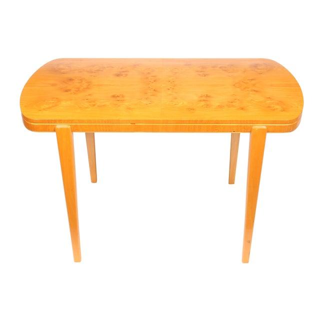 Swedish Art Deco Ash Burl Table - Image 1 of 4