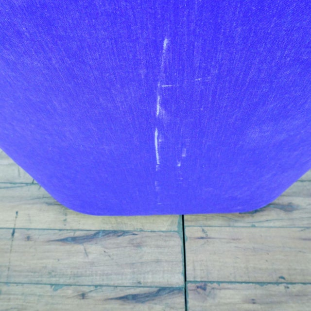 Purple Purple Upholstered Chairs- A Pair For Sale - Image 8 of 9