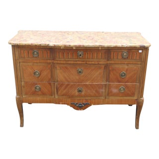 C. 18th Elegant Louis XVI Inlay Walnut French Chest For Sale