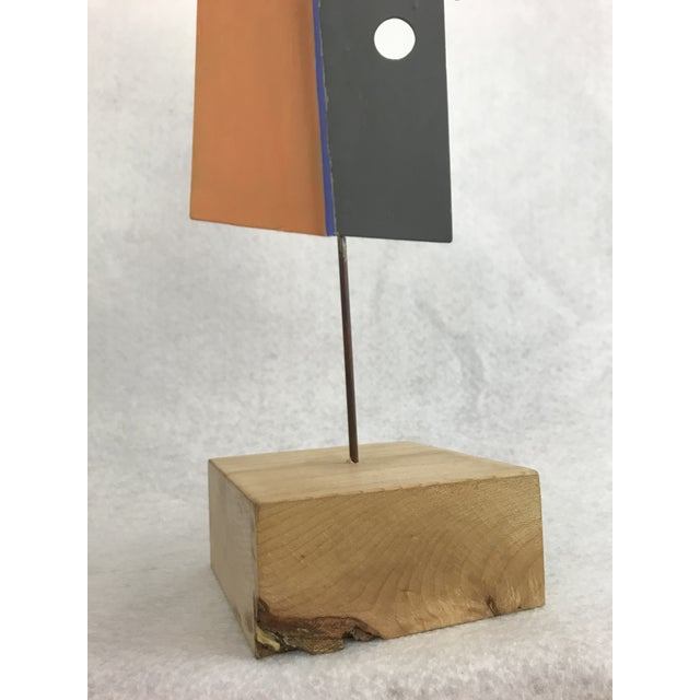 Metal 1980s Modern Geometric Perforated Metal Sculpture For Sale - Image 7 of 10