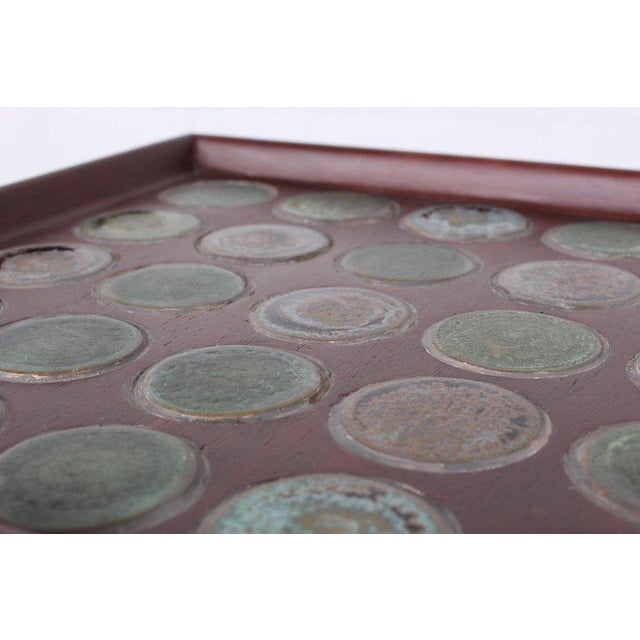 Edward Wormley Dunbar Janus Side Table With Natzler Tiles For Sale - Image 9 of 13