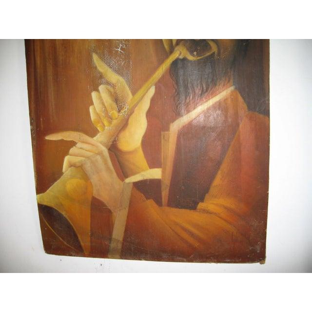 Trumpet Man Painting - Image 2 of 4