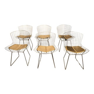 Bertoia Style Chrome Side Chairs - Set of 6