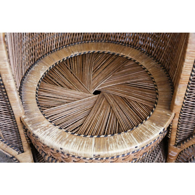 Vintage Rattan and Wicker Peacock Chair For Sale In Los Angeles - Image 6 of 10