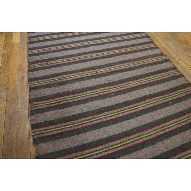 """1900 - 1909 1900s Antique American Rag Rug 3'2""""x32'10"""" For Sale - Image 5 of 7"""