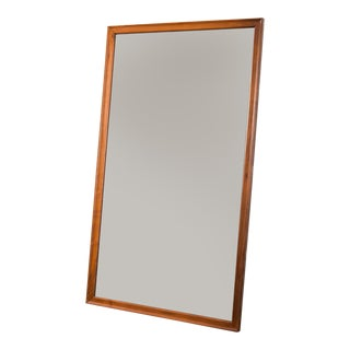 American Walnut Floor Mirror For Sale