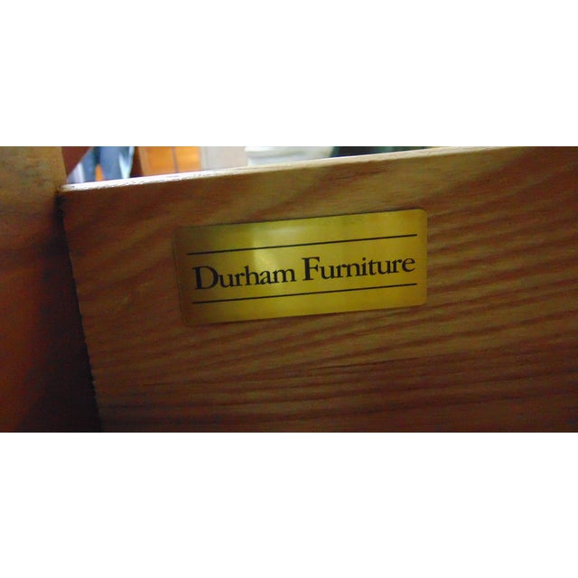 Durham Furniture Cherry Chippendale Linen Press For Sale - Image 9 of 11