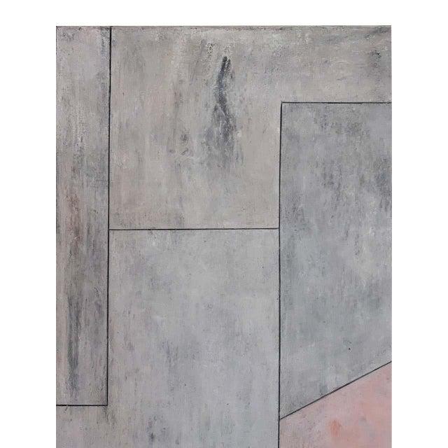 "Mid-Century Modern Stephen Cimini ""Onyx Meets Selenite"" Oil on Canvas Artwork For Sale - Image 3 of 7"