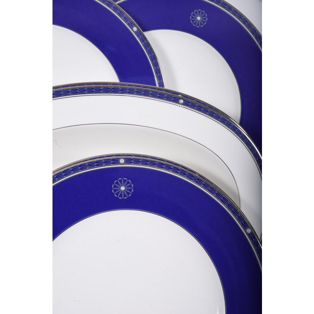 Silver Wedgwood English Porcelain Dinnerware Service for Ten People - 83 Pc. Set For Sale - Image 8 of 13