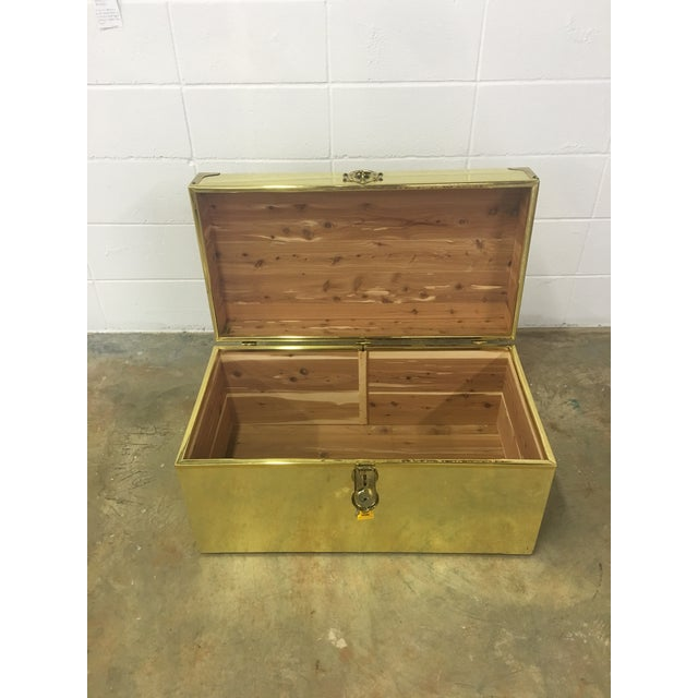 Dresher Cedar Lined Brass Trunk With Glass Top - Image 7 of 11