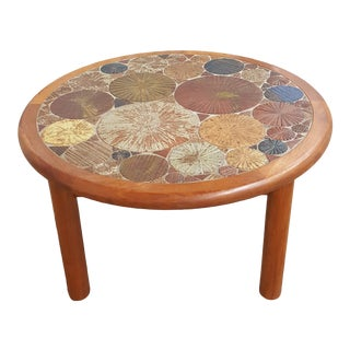 Scandinavian Teak and Tile Coffee Table by Haslev. For Sale