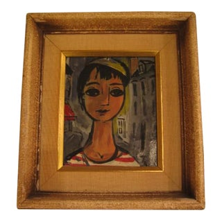 Pair of Miniature Portraits by Nicholas Takis For Sale