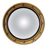Image of English Round Gilt Framed Convex Mirror (Dia 15 3/4) For Sale