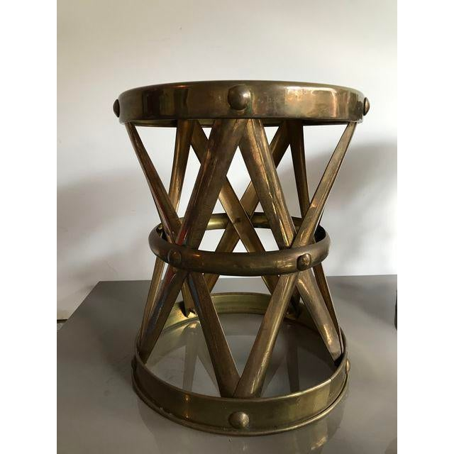 Vintage Brass Stool - Image 2 of 6