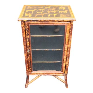 19th Century Victorian Bamboo Vitrine For Sale