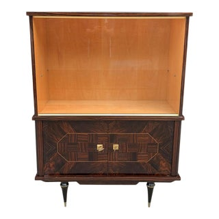 1940s French Art Deco Macassar Ebony Dry Bars Cabinet or Buffet For Sale