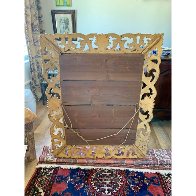 Italian Antique Italian Gold Framed Mirror For Sale - Image 3 of 7