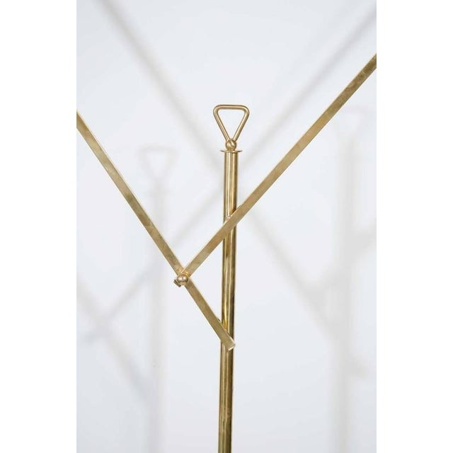 Brass Italian Modern Architectural Floor Lamp by Franco Buzzi for O-Luce For Sale - Image 7 of 8