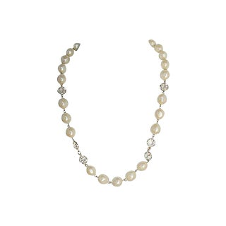 1980s Givenchy Simulated Pearl Sautoir Necklace For Sale