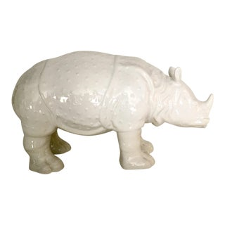 Glazed Ceramic Rhinoceros