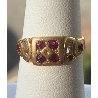 Antique Georgian Ruby and Diamond Gold Ring Preview