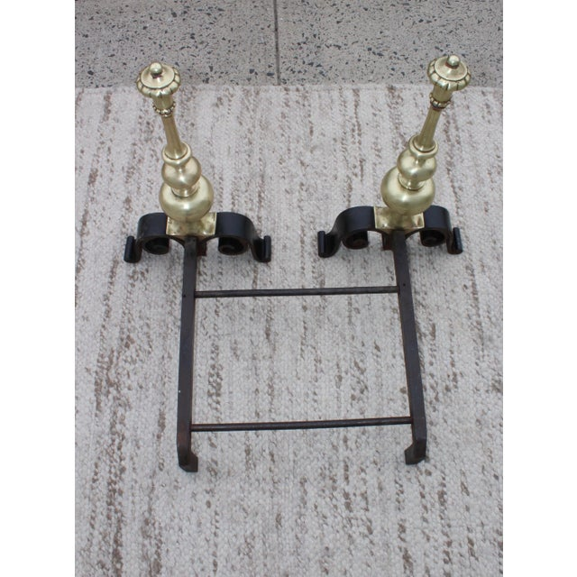 1930s Bronze Andirons For Sale - Image 12 of 13