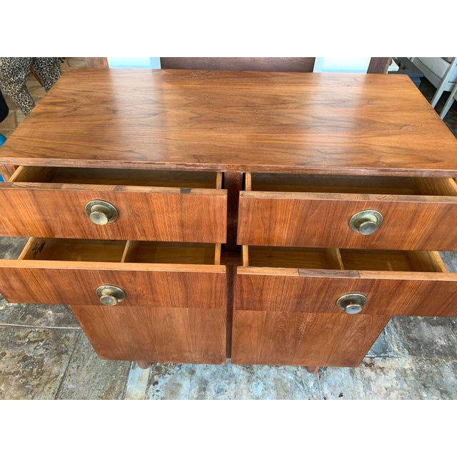 1950s Mid Century Modern American of Martinsville Highboy For Sale - Image 5 of 11
