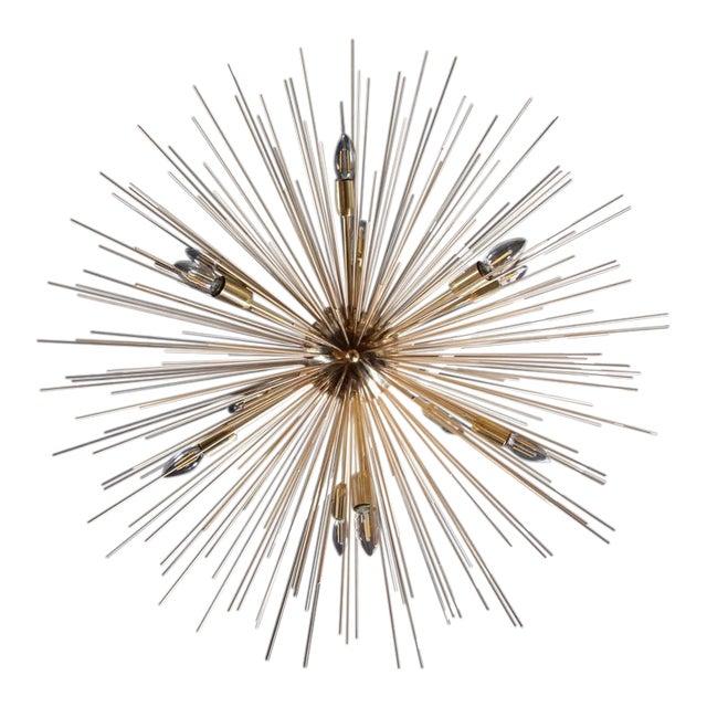 Monumental Brass Sputnik or Urchin Chandelier For Sale