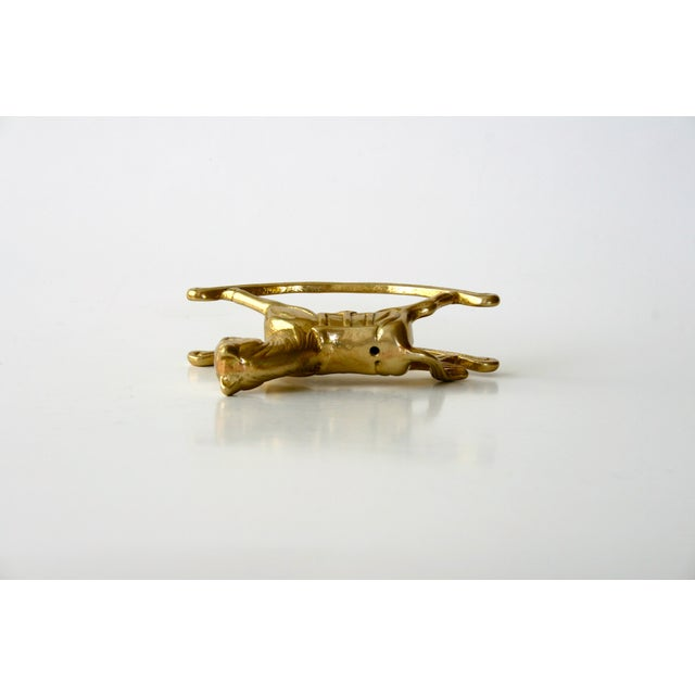 Brass 20th Century Childrens Brass Rocking Horse Figurine For Sale - Image 8 of 10