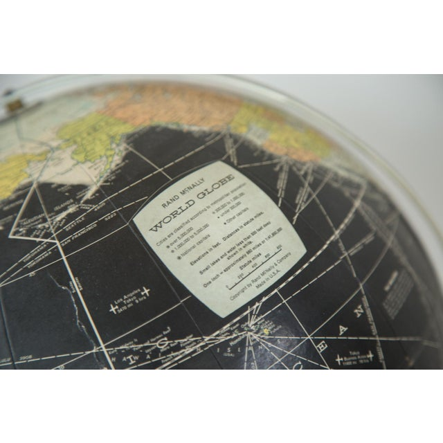 1960s Rand McNally Black Globe - Image 10 of 10